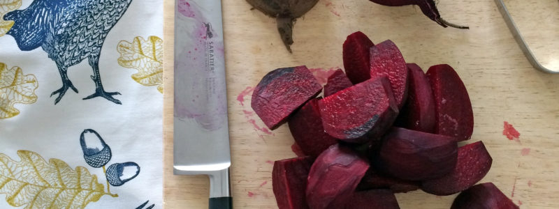 Beetroot chopping
