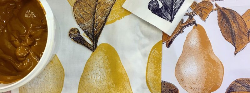 Screen printing hand printing inks pear