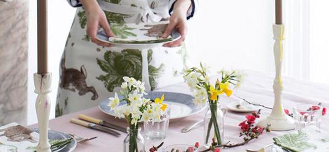 Rabbit & Cabbage kitchen textiles