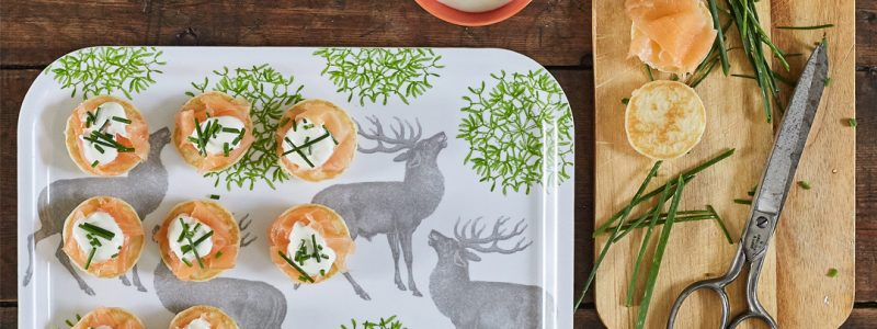 Quick Christmas Canapé Recipes with Thornback & Peel
